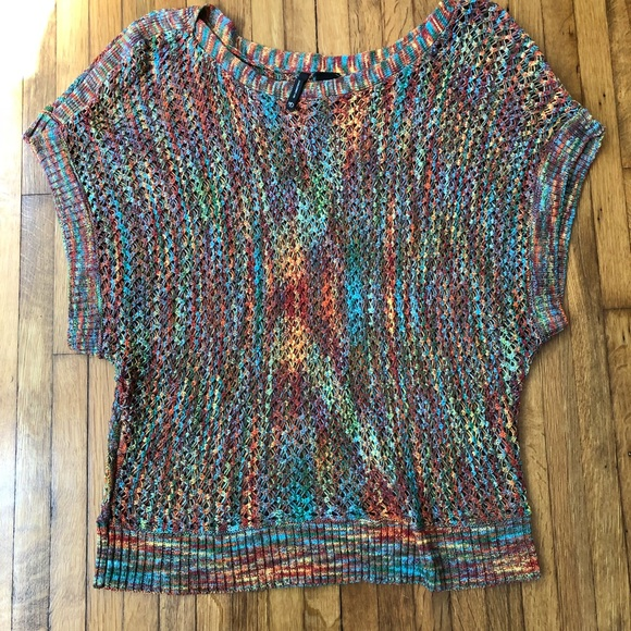 ae0e2f1d6d30 New Directions short sleeve knit sweater size L. M 5b5f2140d6716a1de7e7262d